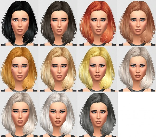 Monolith Sims: Skysims 242 retextured hairstyle for Sims 4