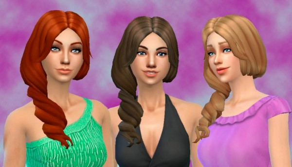 Mystufforigin: Sea Wave Hairstyle for Sims 4