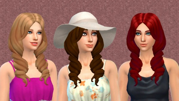 Mystufforigin: Heavy Sea Hairstyle for Sims 4