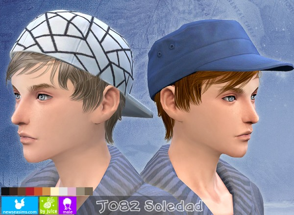 NewSea: J082 Soledad hairstyle for Sims 4