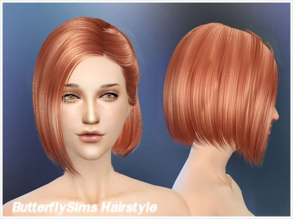 Butterflysims: Bob Hairstyle 100 for Sims 4