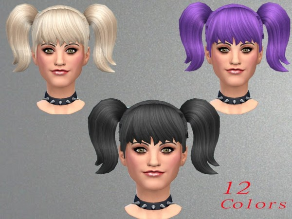 The Sims Resource: New pigtails by neissy for Sims 4