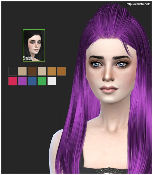 Simista: Butterfly Sims Hairstyle 135 Retexture for Sims 4