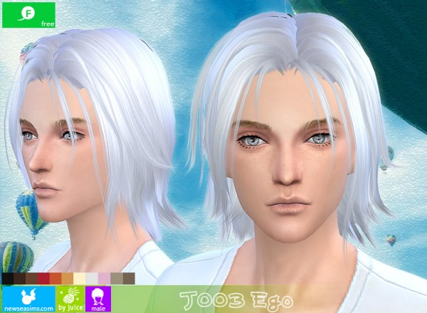 NewSea: J003 Ego hairstyle for Sims 4