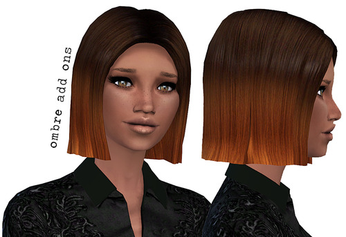 Miss Paraply: A few hairstyle retextured for Sims 4