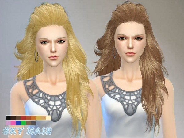The Sims Resource: Hairstyle 227 by Skysims for Sims 4