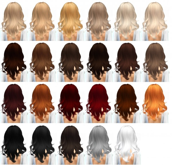 Miss Paraply: Newsea's Luxury hairstyle retextured for Sims 4