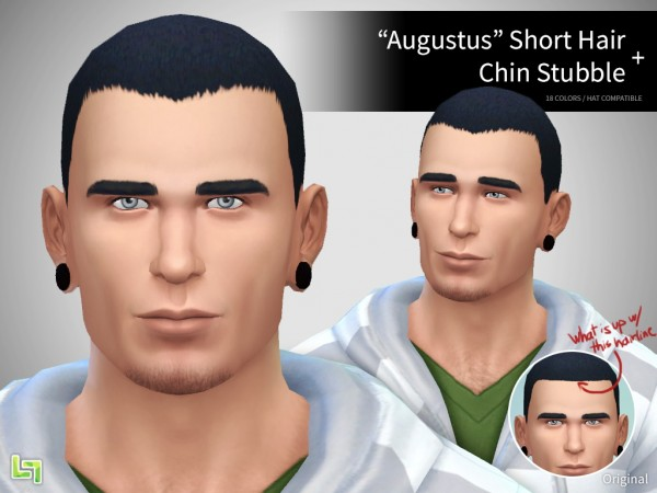 Lumia Lover Sims: Augustus Hairstyle for Sims 4