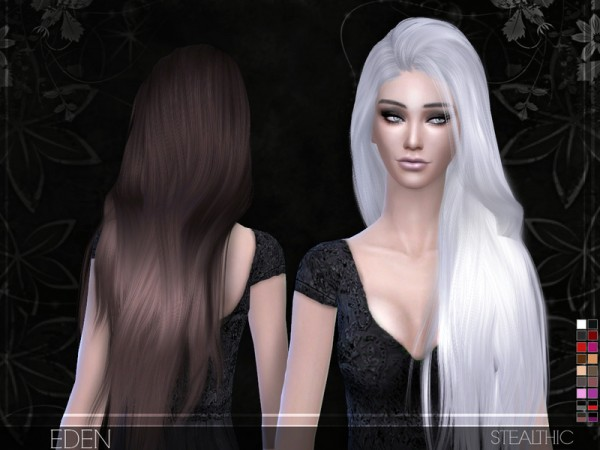 Stealthic: Eden hairstyle by Stealthic for Sims 4