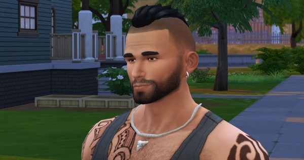 Lumia Lover Sims: Short Punk Hawk hairstyle for Sims 4