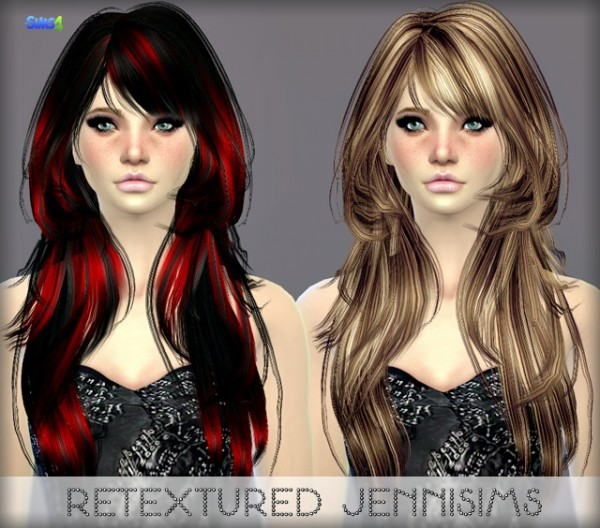 Jenni Sims: Elasims Hairstyle Retextured for Sims 4