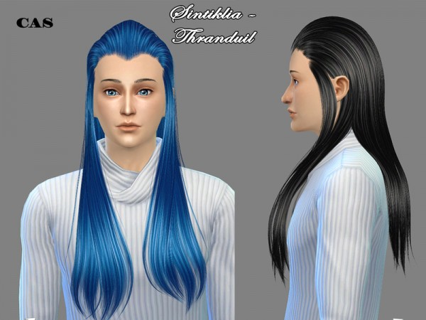 The Sims Resource: Hairstyle 04 Thranduil by Sintiklia for Sims 4