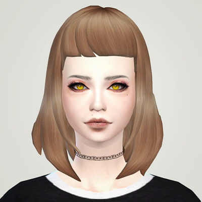 Liahxsimblr: MFSIMS Cleo hairstyle retextured for Sims 4