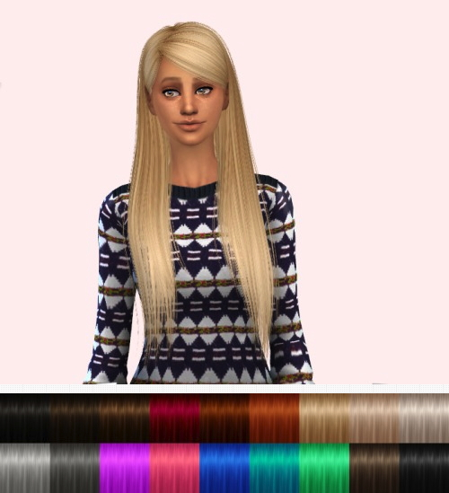 Delirium Sims: Alesso's Alexis hairstyle retextured for Sims 4