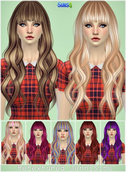 Jenni Sims: Elasims Hairstyle Converted Retextured for Sims 4