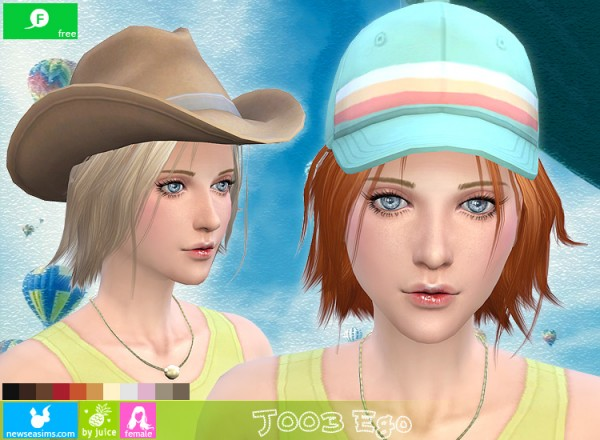 NewSea: Fringe bob hairstyle J003 Ego for Sims 4