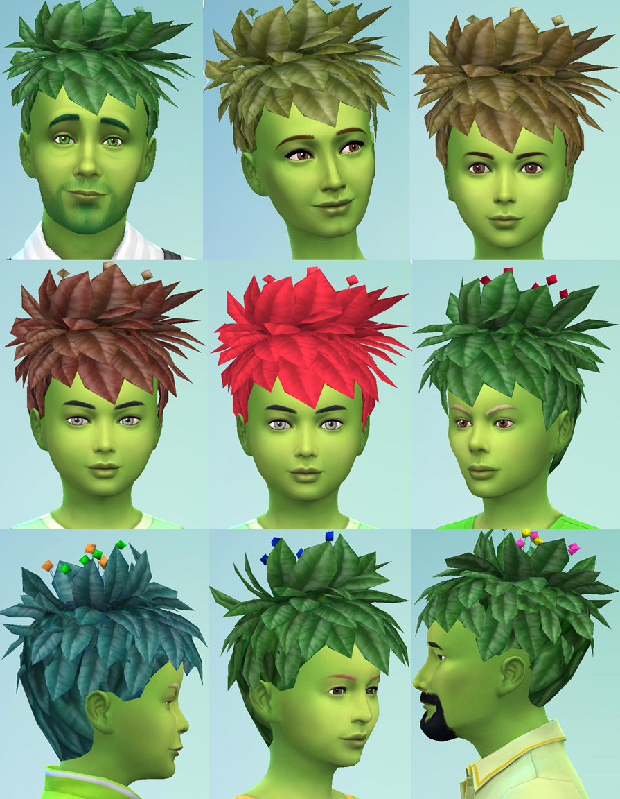 Mod The Sims Plantsim Sims 2 Hairstyle Conversion By