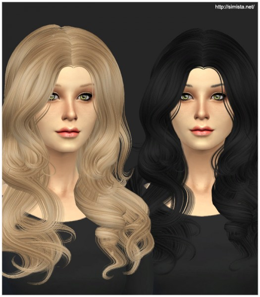 Sims 4 Hairstyles: Simista: Newsea YU088 Luxury Hairstyle