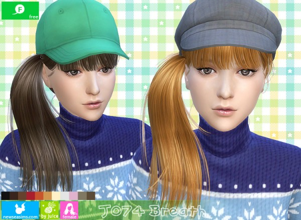 NewSea: J074 Breath hairstyle for Sims 4