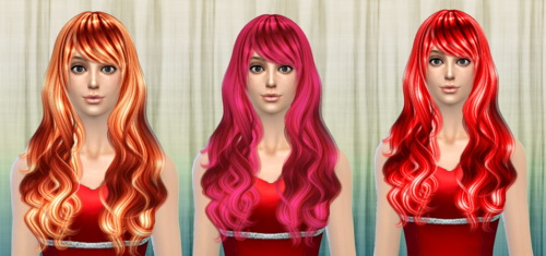 Darkiie Sims 4: Cazy`s Sorrow hairstyle retextured for Sims 4