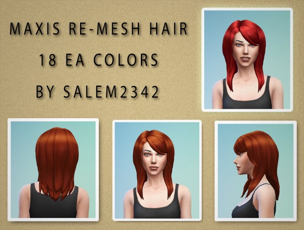 Salem2342: Hairstyle retextured for Sims 4