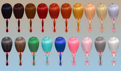 NotEgain: Charm Hairstyle with ribbom for Sims 4