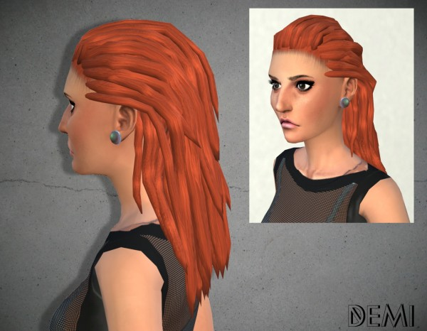 My Happy Ending: Demi Hairstyle for Sims 4