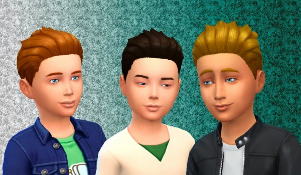 Mystufforigin: Short Spikey Hair for boys for Sims 4