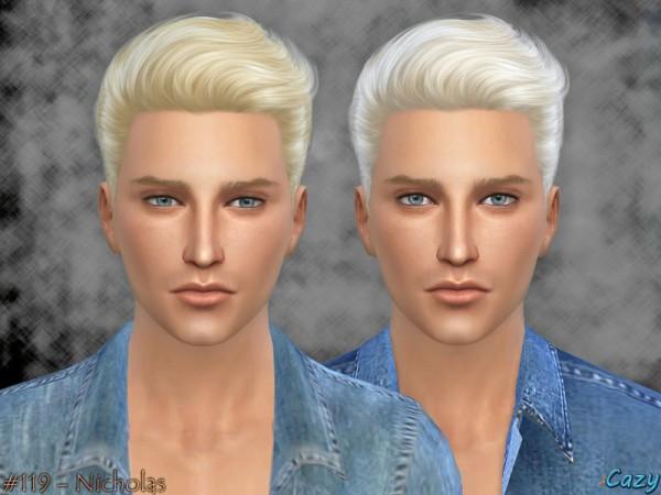 Cazycx tumblr: Nicholas Hairstyle for Sims 4