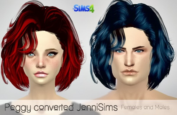 Jenni Sims: Peggy`s converted hairstyles for Sims 4