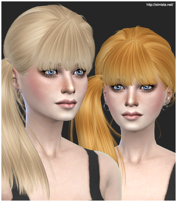 Sims 4 Hairstyles: Simista: Newsea J074 Hairstyle Retextured