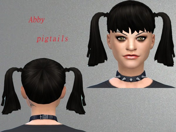 The Sims Resource: Abby pigtails hairstyle by Neissy for Sims 4