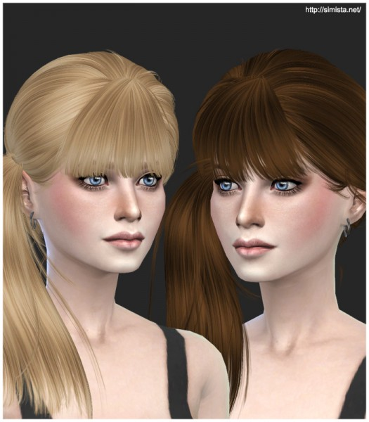Simista: Newsea J074 hairstyle retextured for Sims 4