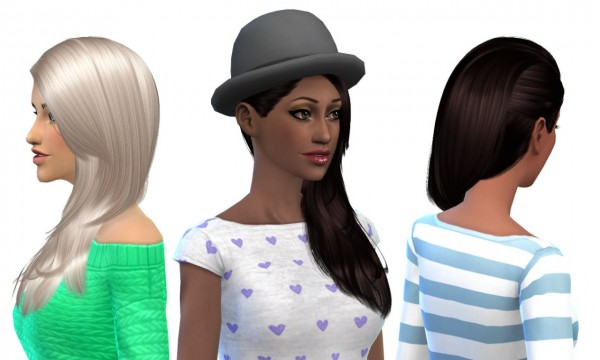 Nessa sims: Cazy`s Last Call Naturals hairstyle retextured for Sims 4