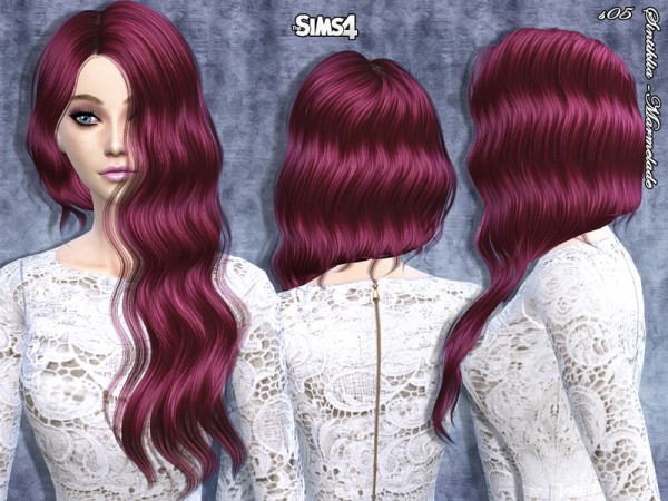 The Sims Resource: Marmelade hairstyle by Sintiklia for Sims 4