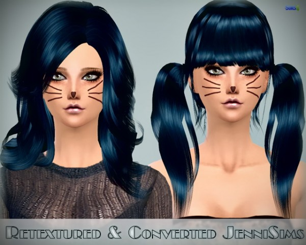 Jenni Sims: Hairstyle Peggy, Elasims,Raon Converted Retextured for Sims 4