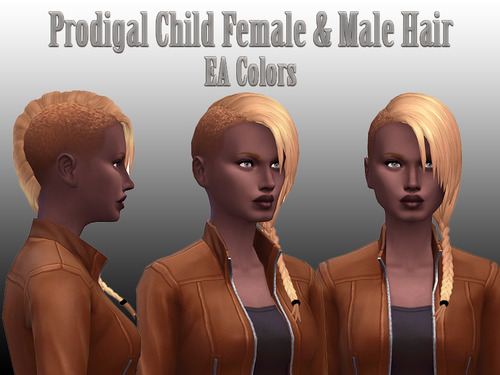 NotEgain: Prodigail hairstyle for Sims 4