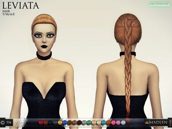 Madlen Sims: Leviata hairstyle for Sims 4