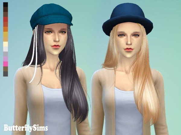 Butterflysims: Hairstyle 099 for Sims 4
