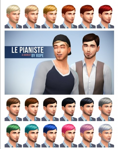 Simsontherope: Le Pianiste hairstyle for Sims 4