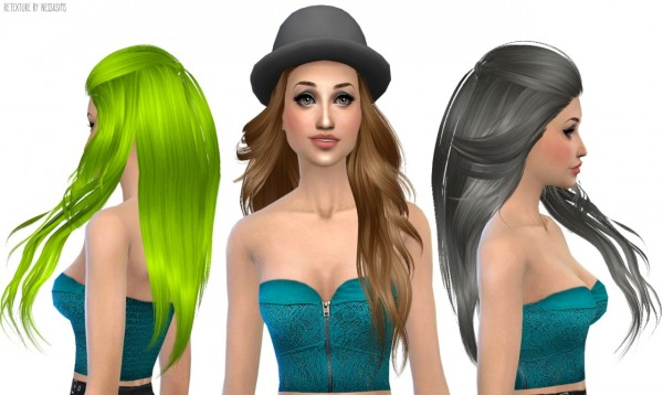 Nessa sims: Skysims 227 hairstyle retextured for Sims 4