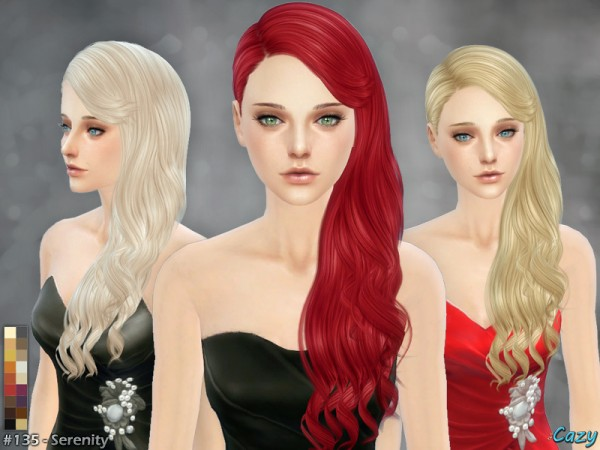 The Sims Resource: Serenity 2 hairstyle by Cazy for Sims 4
