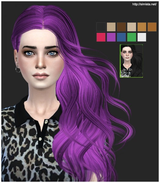 Simista: Skysims Hairstyle 252 Retexture for Sims 4