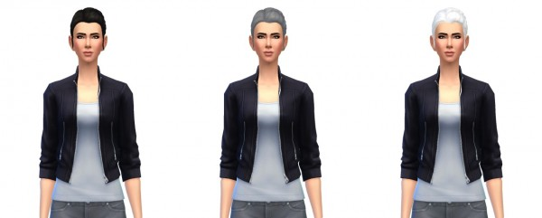 Busted Pixels: Pony braid side hairstyle for Sims 4