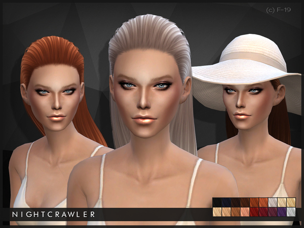 The Sims Resource: Half up do hairstyle 19 by Nightcrawler for Sims 4