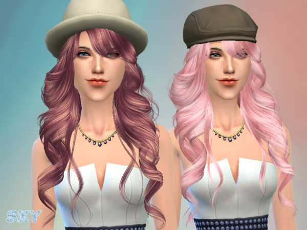 The Sims Resource: Romantic hairstyle 255 by Skysims for Sims 4
