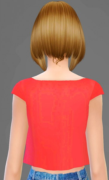 Artemis: B Flysims 124 hairstyle retextured for Sims 4