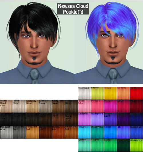 Annachibi`s Sims: Newsea Cloud converted by Black for Sims 4