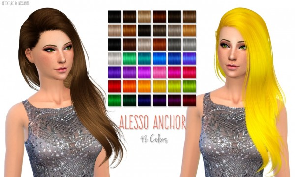 Nessa sims: 500 Followers Gift hairstyle retextured for Sims 4