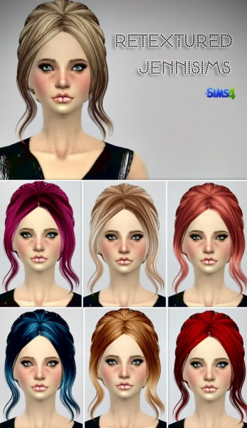 Jenni Sims: Butterflysims 082,085 Hairstyles retextured for Sims 4
